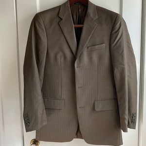 Men's Alfani Brown Wool Blazer 36R